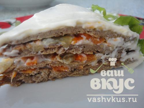 печёночный торт рецепт фото со сметаной