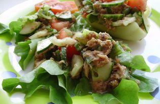 Свежий салат с тунцом (пошаговый фото рецепт)