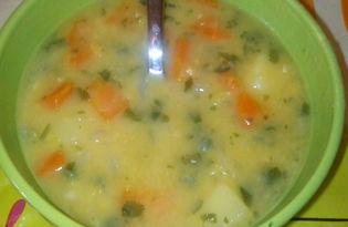 Гороховый суп со свежим горошком в мультиварке Delfa (пошаговый фото рецепт)