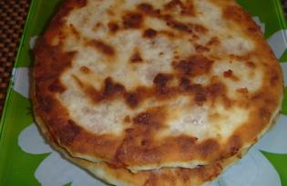 Лепешки сырные с начинкой (пошаговый фото рецепт)