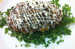 Запеченный картофель, фаршированный грибами и сыром (пошаговый фото рецепт)