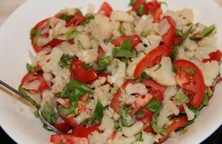 Салат из цветной капусты и помидора (пошаговый фото рецепт)
