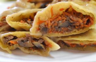 Пельмени с грибами и морковью (пошаговый фото рецепт)