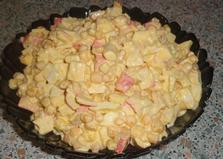 Салат из крабовых палочек (пошаговый фото рецепт)