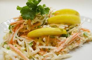 Салат из дайкона (пошаговый фото рецепт)