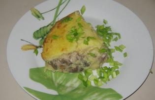 Запеканка картофельная с грибами (пошаговый фото рецепт)