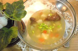 Быстрый гороховый суп с копчёностями (пошаговый фото рецепт)