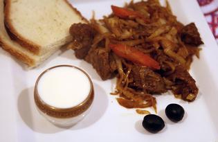 Тушеная говядина с капустой (пошаговый фото рецепт)