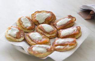 Картофельные блинчики с семгой (пошаговый фото рецепт)