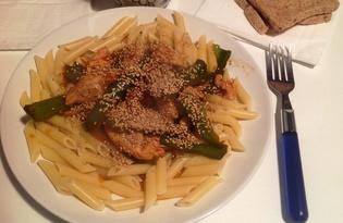 Куриное филе по-китайски с кунжутом (пошаговый фото рецепт)