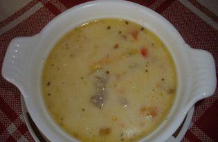 Cуп с фаршем тосканский  (Zuppa Toscana) (пошаговый фото рецепт)