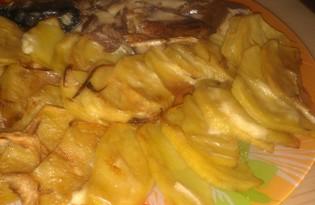 Скумбрия запеченная с картофелем в майонезе (пошаговый фото рецепт)