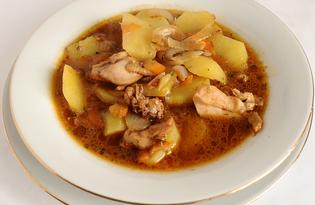 Скоблянка из курицы с картофелем (пошаговый фото рецепт)
