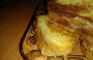 Сладкие гренки на сковороде (пошаговый фото рецепт)