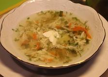 Зеленый суп с щавелем (пошаговый фото рецепт)