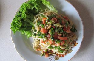 Паста с рукколой и оливками (пошаговый фото рецепт)