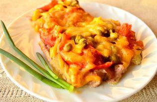 Свинина под овощной шубкой (пошаговый фото рецепт)