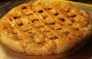 Песочный пирог с яблоками (пошаговый фото рецепт)