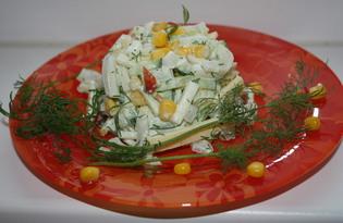 Салат коктейль с кальмарами (пошаговый фото рецепт)