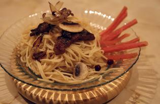 Свинина гриль с шампиньонами (пошаговый фото рецепт)