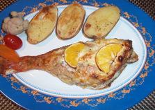 Морской окунь в сырном соусе (пошаговый фото рецепт)