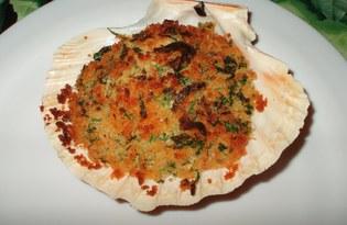 Морские гребешки фаршированные (пошаговый фото рецепт)