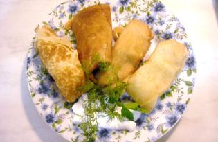 Налистники с картофелем и шампиньонами (пошаговый фото рецепт)