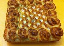 Слоеный пирог с рыбой (пошаговый фото рецепт)
