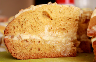 Бисквитный торт с ореховым кремом в мультиварке Redmond M-4502 (рецепт с пошаговыми фото)