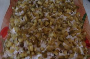 Салат с курицей и яйцом (пошаговый фото рецепт)