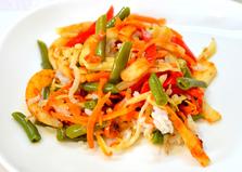 Рисовый салат с кальмаром (пошаговый фото рецепт)