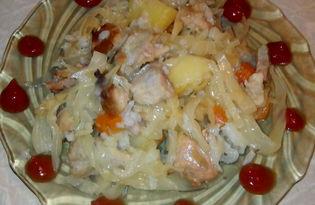 Овощное рагу со свининой в мультиварке Delfa (рецепт с пошаговыми фото)