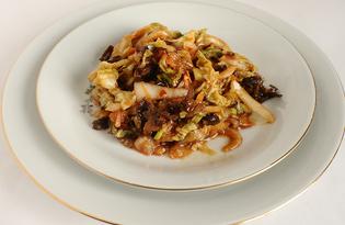 """Салат из пекинской капусты """"Юго-Восточная Азия"""" (рецепт с пошаговыми фото)"""