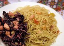 Паста с креветками и соленой форелью (рецепт с пошаговыми фото)