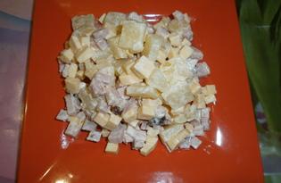Легкий салат с ананасами (рецепт с пошаговыми фото)