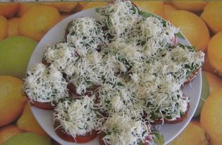 Помидоры под сыром (рецепт с пошаговыми фото)