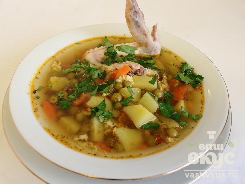 рецепт супа с свежим зеленым горошком с фото