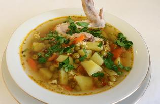 Куриный суп с зеленым горошком (рецепт с пошаговыми фото)