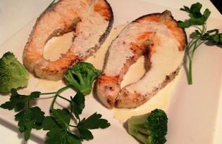 Стейк из семги под имбирным соусом (рецепт с пошаговыми фото)