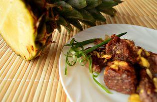 Свинина в ананасах (рецепт с пошаговыми фото)