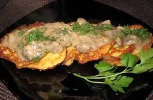 Деруны с грибной подливой (рецепт с пошаговыми фото)