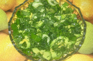 Зелёный весенний салат с черемшой и авокадо (рецепт с пошаговыми фото)