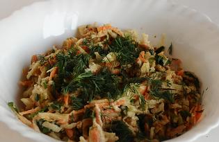 Салат весенний из зеленой редьки (рецепт с пошаговыми фото)