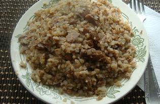 Гречневая каша с базиликом и сушенными грибами в мультиварке Vitek (рецепт с пошаговыми фото)