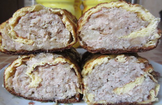 Рулет из курицы с омлетом (рецепт с пошаговыми фото)