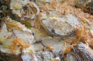 Тушеная рыба в сметане с овощами (рецепт с пошаговыми фото)