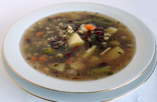 Вегетарианский суп из фасоли (пошаговый фото рецепт)