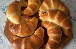 Рогалики с шоколадной начинкой (пошаговый фото рецепт)