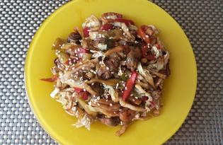 Салат с пекинской капустой и морепродуктами (пошаговый фото рецепт)