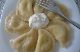 Вареники с картошкой и творогом (пошаговый фото рецепт)